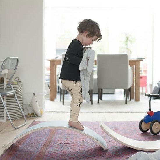 Wobbel Balance Board - Original - Blank gelakt met vilt - Lucht