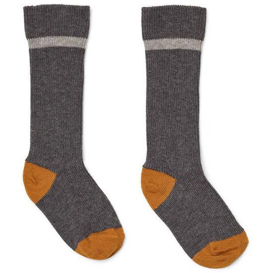 Liewood Knee high socks Mia - grey melange - Liewood