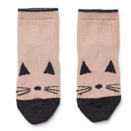 Liewood Socks Silas - cat - rose - Liewood