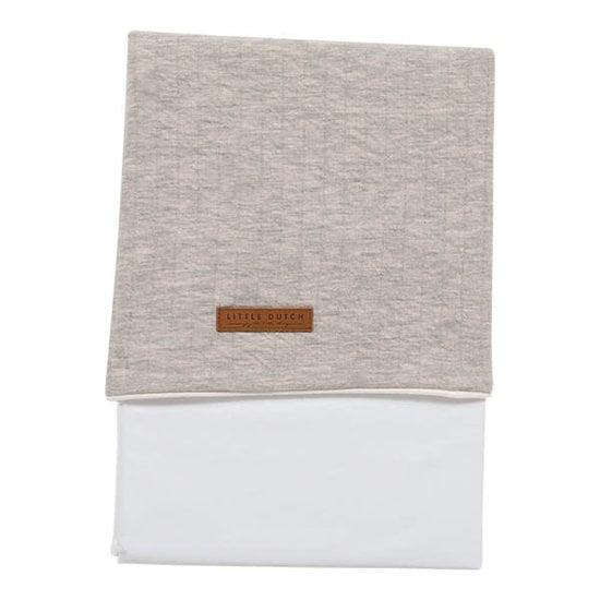 Little Dutch Cot sheet Little Dutch - Pure Grey