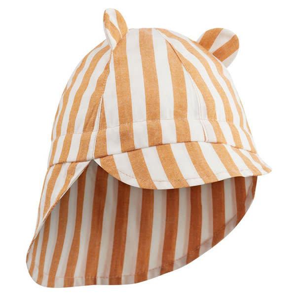 232c5a18213bc Chapeau bébé - chapeau de soleil - Stripe Mustard - Liewood | Little ...