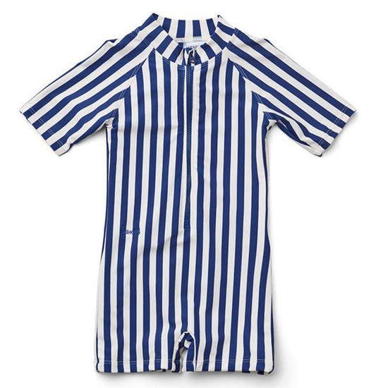 Liewood Swimsuit jumpsuit Max - Stripe navy - Liewood