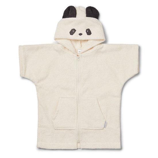 Liewood Bathrobe - Lela Cape - panda creme de la creme - Liewood