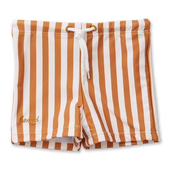 Liewood Swim shorts Otto - Stripe mustard - Liewood