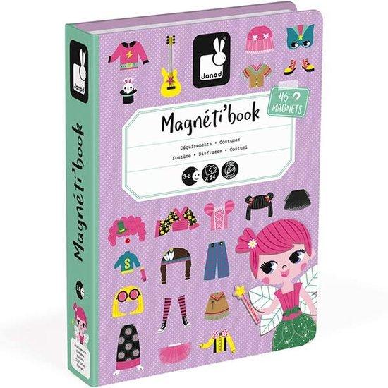 Janod speelgoed Janod - Magnetbuch Mädchen Outfits - 54 Stück 3-8 Jahren