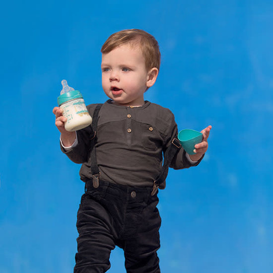 Suavinex Babyflasche Silikon physiologisch 150ml +0M Couture Light Blue Suavinex