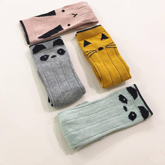 Liewood Knee high socks - panda - grey melange - Liewood 2 pack