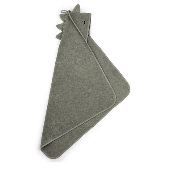 Liewood Baby towel-Albert-Dino faune green-70 cm-Liewood