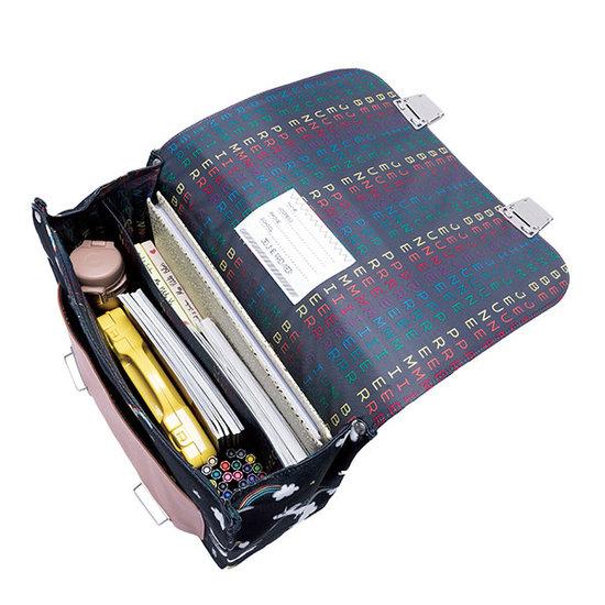 Jeune Premier boekentas School bag Classic midi rainbow unicorn - Jeune Premier