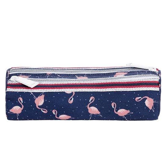 Jeune Premier boekentas Pencil case Double Flamingo - Jeune Premier