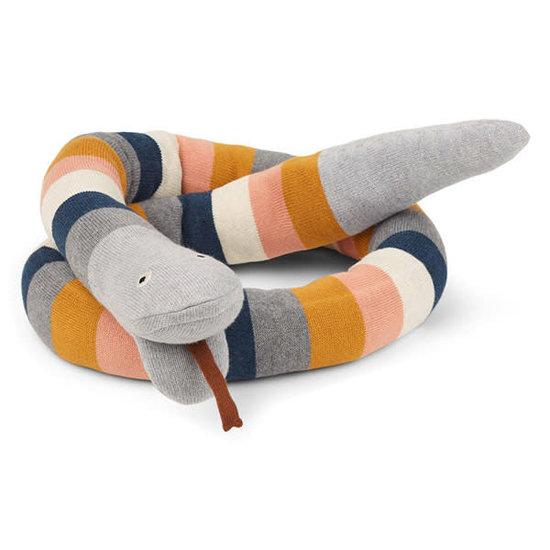Liewood Teddy bear - Fillippa knitted snake - Stripe Multi - Liewood