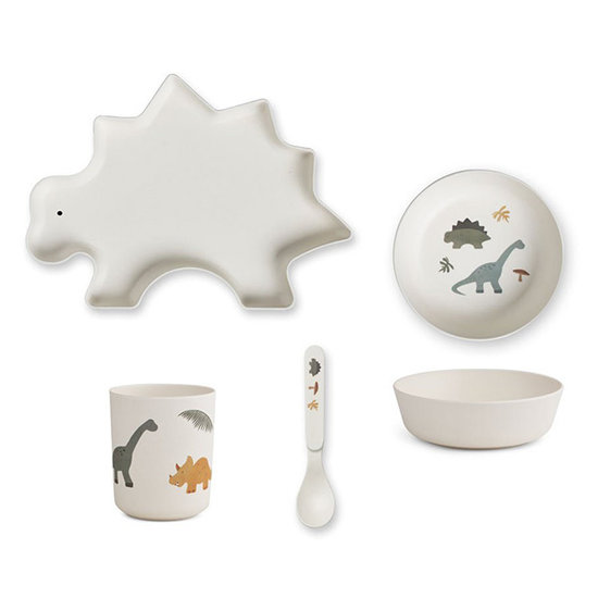 Liewood Bamboo dinner set - Dino mix - Liewood
