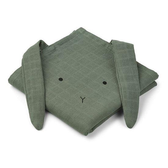 Liewood Muslin cloths rabbit faune green 70cm Liewood