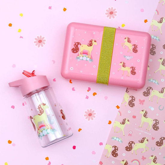 A Little Lovely Company Drinkfles - paard - A Little Lovely Company
