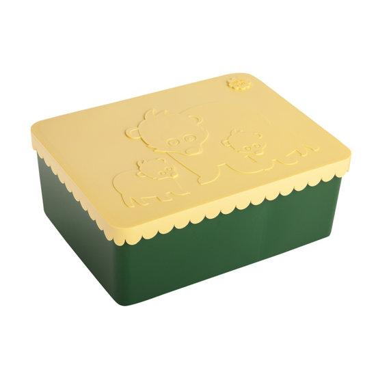 Blafre Lunchbox Bär dunkelgrün-gelb - Blafre