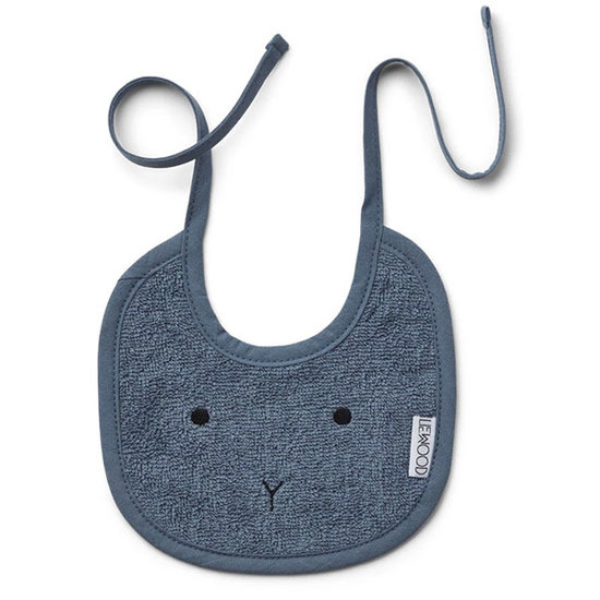 Liewood Baby bib Lilja rabbit blue wave 2pack - Liewood