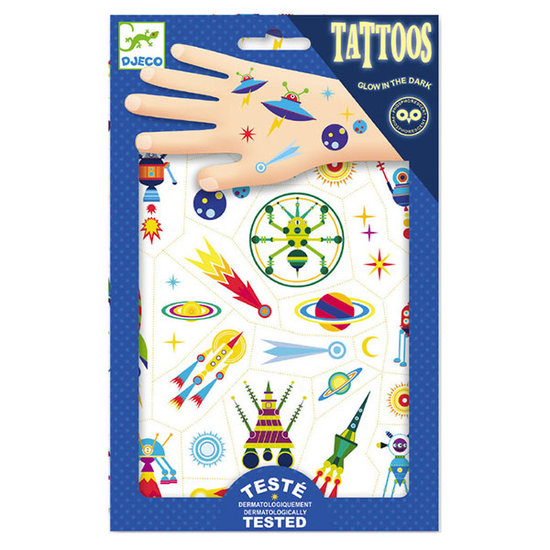 Djeco Tattoos Space Oddity - leuchtend im Dunkel - Djeco