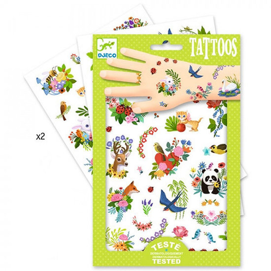Djeco Tattoos Happy Spring - Djeco +3yrs