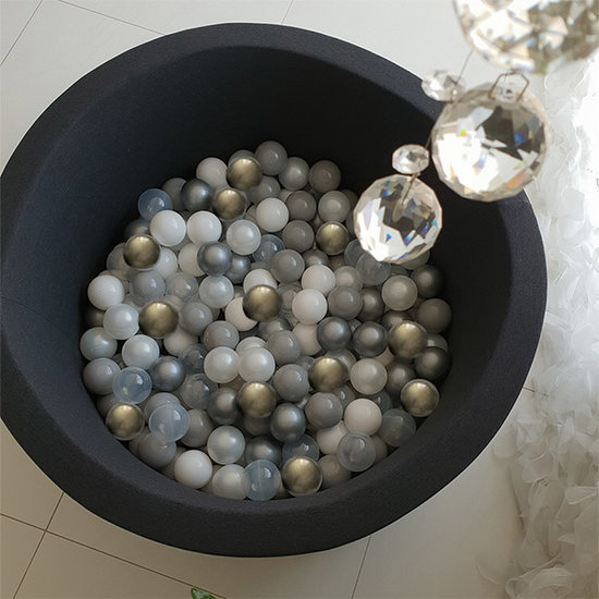 Little Thingz Ball pit - anthracite - incl 200 balls grey-gold-pearl