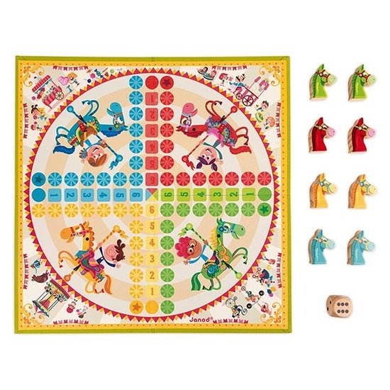 Janod speelgoed Ludo game Carrousel - Janod