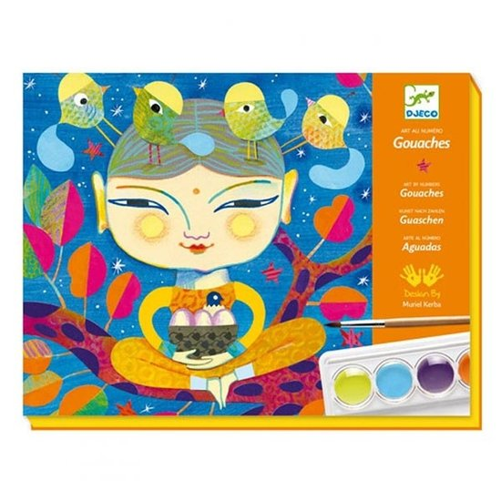 Djeco Paint by number India - Djeco