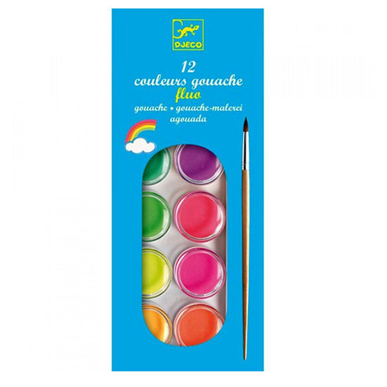 Djeco Gouache 12 neon colors - Djeco
