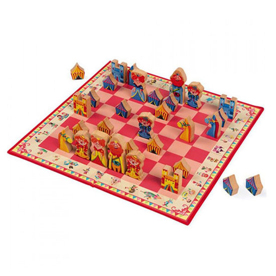 Janod houten speelgoed Chess game Carousel - Janod