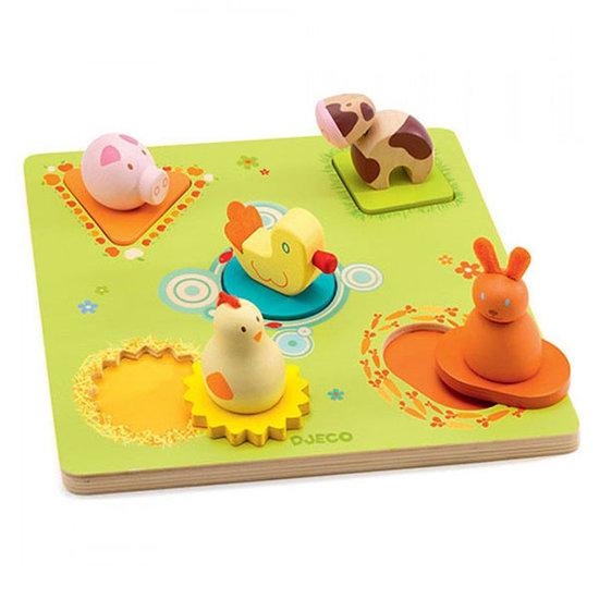 Djeco 3D Puzzle Bildi animals - Djeco