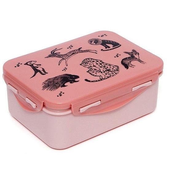Petit Monkey Lunchbox brooddoos Black animals - Petit Monkey