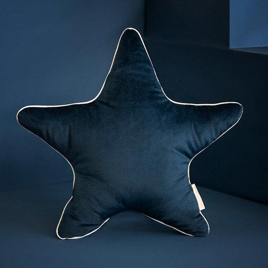 Nobodinoz tipi en accessoires Star cushion Aristote Night Blue Nobodinoz