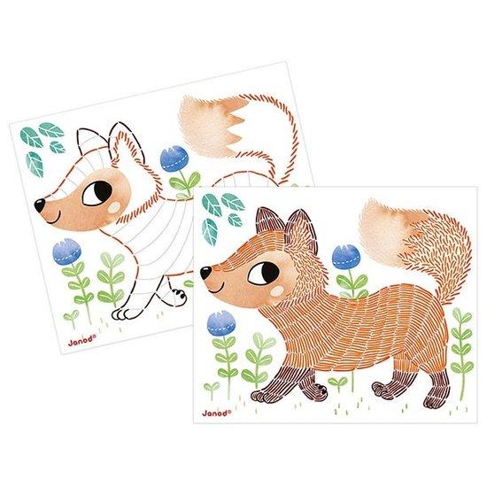 Janod speelgoed Coloriages aux traits animaux - Janod