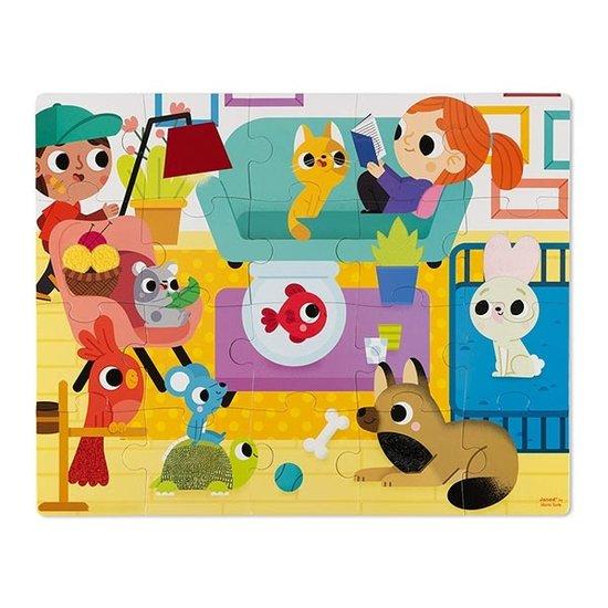 Janod speelgoed Haptik Puzzle Haustiere - Janod - 20T