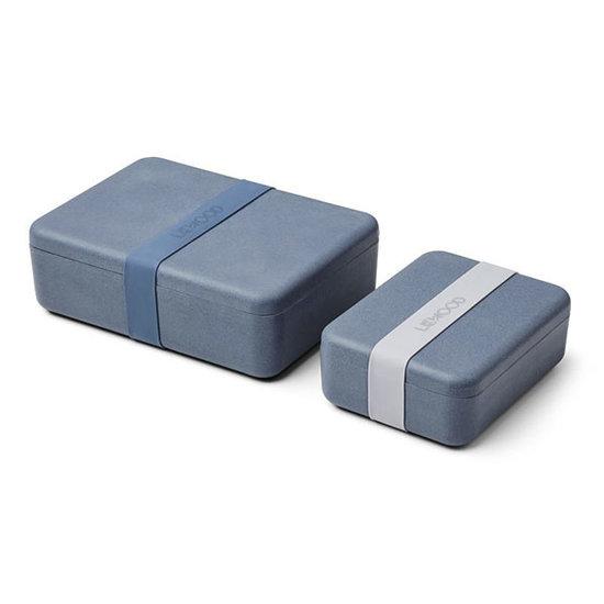Liewood Lunch box set Bradley Blue wave - Liewood