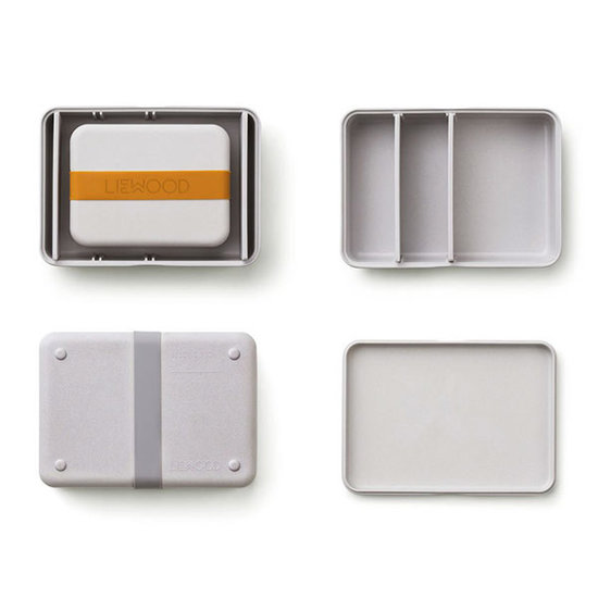Liewood Lunch box set Bradley Dumbo grey - Liewood