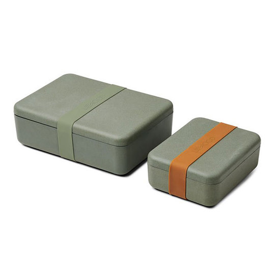 Liewood Brotdose Lunchbox Set Bradley Faune green Liewood