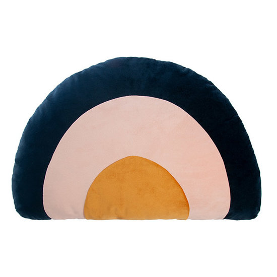 Nobodinoz tipi en accessoires Rainbow cushion Night Blue Nobodinoz