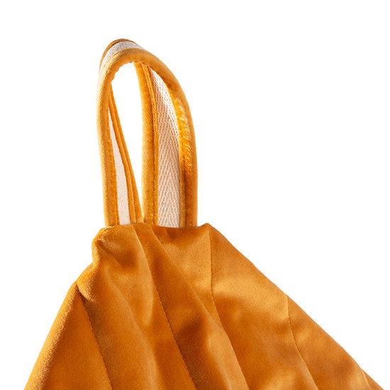 Nobodinoz tipi en accessoires Pouf Essaouira Velvet Farniente Yellow Nobodinoz