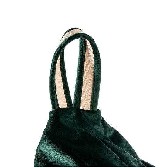 Nobodinoz tipi en accessoires Pouf Essaouira Velvet Jungle Green Nobodinoz
