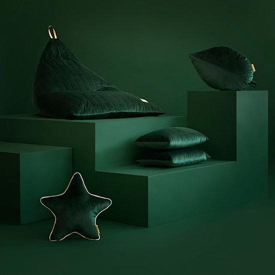 Nobodinoz tipi en accessoires Zitzak Essaouira Velvet Jungle Green Nobodinoz
