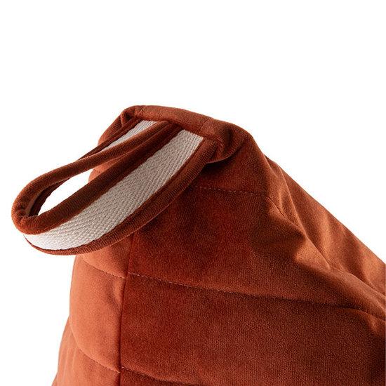Nobodinoz tipi en accessoires Pouf Essaouira Velvet Wild Brown Nobodinoz