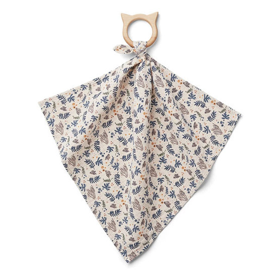 Liewood Cuddle cloth with teether Coral Floral - Liewood
