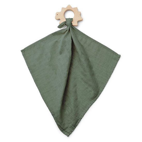 Liewood Cuddle cloth with teether Faune green - Liewood