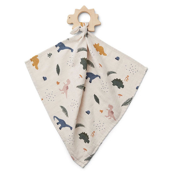 Liewood Cuddle cloth with teether Dino Mix - Liewood