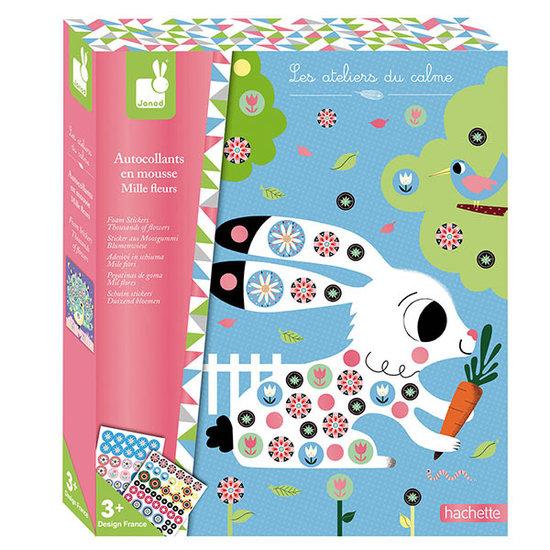 Janod speelgoed Knutselpakket stickerkaarten 1000 bloemen - Janod