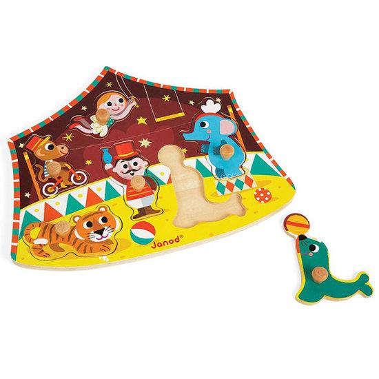 Janod speelgoed Knoppuzzel Sterren Circus - Janod