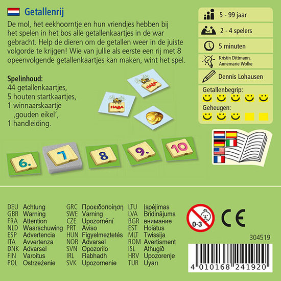 Haba Memory game Number Sequence - Haba