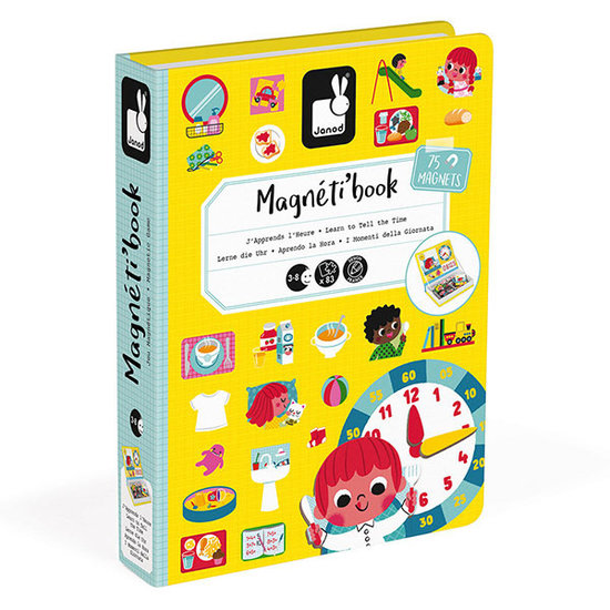 Janod speelgoed Magnetic book Learn tot tell the time - Janod