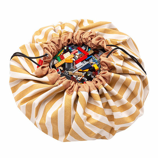 Play and Go Speelmat en opbergzak Stripes Mustard - Play & Go