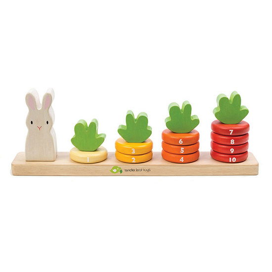 Tender Leaf Toys Stacking game Counting Carrots - Tender Leaf Toys
