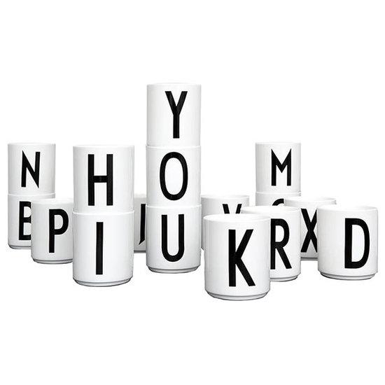 Design Letters Design Letters - melamine beker A-Z - AJ Vintage ABC - Arne Jacobsen